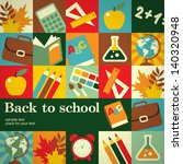 back to school abstract concept ... | Shutterstock . vector #140320948