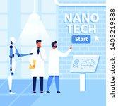 flat nano tech research lab ... | Shutterstock .eps vector #1403219888