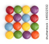 Colored Smarties Stored In A...