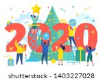 new year business concept.... | Shutterstock .eps vector #1403227028