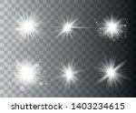 glow light effect. sun flash... | Shutterstock .eps vector #1403234615
