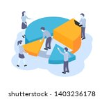 management and data analyzing ... | Shutterstock .eps vector #1403236178