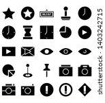 Mixed Sign Symbol Black Icon...