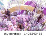 beautiful dried purple and pink ... | Shutterstock . vector #1403243498