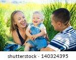 happy young family having fun... | Shutterstock . vector #140324395