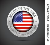 made in america flag metal icon    Shutterstock .eps vector #1403259605