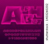 abstract alphabet font....   Shutterstock .eps vector #1403260202