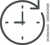time clock dial with round... | Shutterstock .eps vector #1403262428