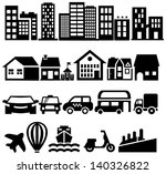 city black vector icons | Shutterstock .eps vector #140326822