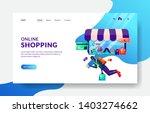 landing page template of online ...   Shutterstock .eps vector #1403274662