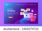 landing page template of online ...   Shutterstock .eps vector #1403274722