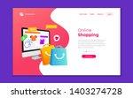 landing page template of online ...   Shutterstock .eps vector #1403274728