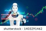 robot trading on stock market.... | Shutterstock .eps vector #1403291462