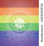 electrocardiogram icon inside... | Shutterstock .eps vector #1403294918