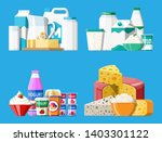 dairy products set. collection... | Shutterstock . vector #1403301122