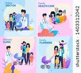 healthcare lettering flat... | Shutterstock .eps vector #1403312042