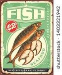 grilled mackerel fish dish... | Shutterstock .eps vector #1403321942