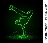 one hand frieze by b boy. break ... | Shutterstock .eps vector #1403327885