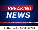 Breaking News Style Font Desig...
