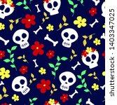 vector dia de los muertos  day... | Shutterstock .eps vector #1403347025