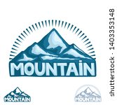 high mountain sign on a white... | Shutterstock .eps vector #1403353148