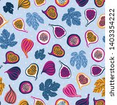 seamless pattern with tropical... | Shutterstock .eps vector #1403354222
