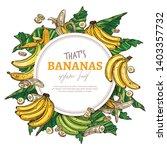 bananas round banner. vector... | Shutterstock .eps vector #1403357732