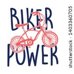 biker power slogan and hand... | Shutterstock .eps vector #1403360705