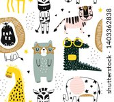 seamless childish pattern with... | Shutterstock .eps vector #1403362838