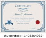 certificate or diploma vintage... | Shutterstock .eps vector #1403364032