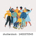 vector cartoon illustration of... | Shutterstock .eps vector #1403370545