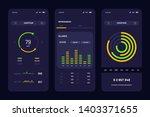 mobile application interface...   Shutterstock .eps vector #1403371655