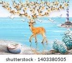 Landscape Illustration  Sea ...