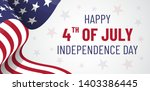 4th july. usa  independence day.... | Shutterstock .eps vector #1403386445
