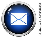 mail icon. glossy button design....