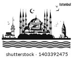 hand drawn istanbul horizontal... | Shutterstock .eps vector #1403392475