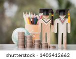 concept of budget for education ... | Shutterstock . vector #1403412662
