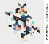 abstract geometric color... | Shutterstock .eps vector #1403414072