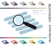 vector magnifying glass icon  ... | Shutterstock .eps vector #1403414258
