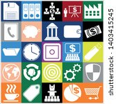 set of 25 business high quality ... | Shutterstock .eps vector #1403415245