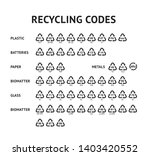 recycling code arrow icons set...   Shutterstock .eps vector #1403420552