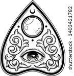 ouija planchette with eye of... | Shutterstock .eps vector #1403421782