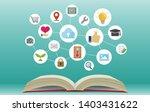 flat banner illustration for... | Shutterstock .eps vector #1403431622