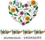 heart  floral  flower  nature ...   Shutterstock .eps vector #1403436395