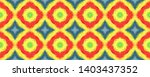 tibetan fabric. yellow  red ... | Shutterstock . vector #1403437352