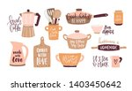 set of lettering written with...   Shutterstock . vector #1403450642