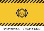 electrocardiogram icon grunge... | Shutterstock .eps vector #1403451338