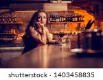 drinking and waiting. long... | Shutterstock . vector #1403458835