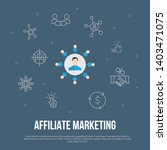 affiliate marketing trendy ui... | Shutterstock .eps vector #1403471075