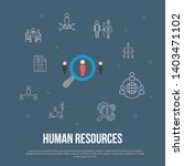 human resources trendy ui flat...